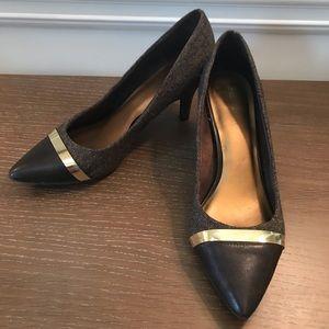 Brown & Gold Heels